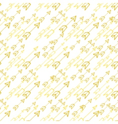 Hand-drawn yellow arrows on white background vector image vector image