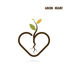 Heart sign and small tree vector image vector image