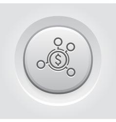 Money distribution icon vector