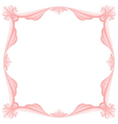 Pink frame vector image vector image