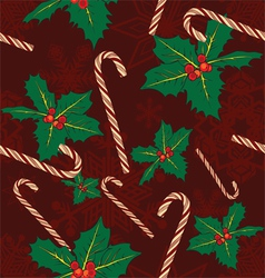 seamless background with symbols of Christmas vector image