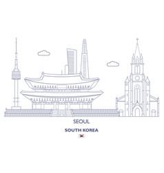 seoul city skyline vector image