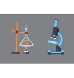 set - chemical test Flat design chemistry vector image