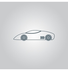 Silhouette of sport car for racing sports vector