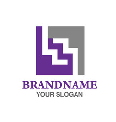 Square letter w logo vector