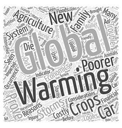 The economics of global warming word cloud concept vector