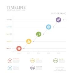 Timeline Infographic design templates vector image