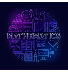 Math linear colorful symbol vector