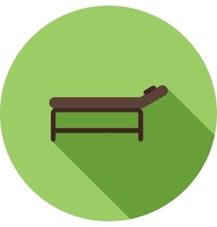 Massage bed vector
