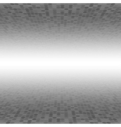 Grey mosaic tile circle background perspective vector