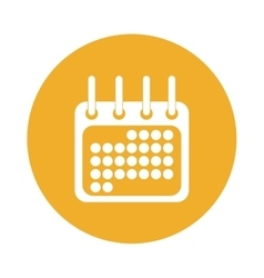 Calendar or agenda button thumbnail icon image vector