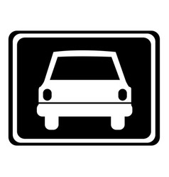 monochrome silhouette with automobile front view vector image
