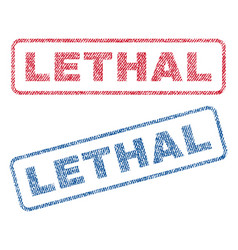 Lethal textile stamps vector