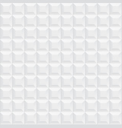 White ceramic cubes texture - seamless vector