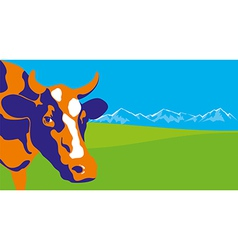 Color cow vector