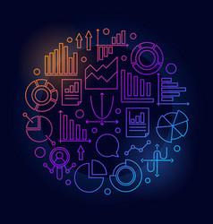 Analytics colorful round vector