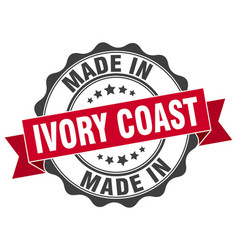Made in ivory coast round seal vector
