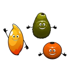 Avocado mango and orange vector