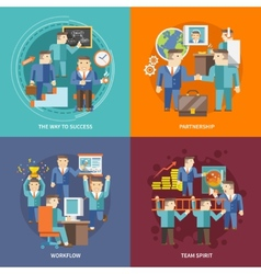 Businessman working flat vector