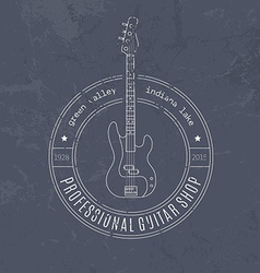 MusicLabel vector image