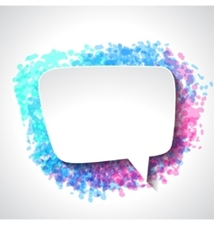 Abstract white paper speech bubble on color grunge vector