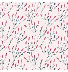 Seamless floral pattern with winter plants vector