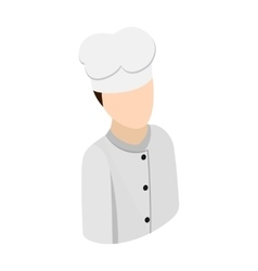 Cook chef isometric 3d icon vector