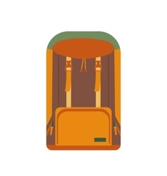 Cartoon backpack icon vector