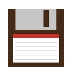 Classic diskette from 90s isolated vector