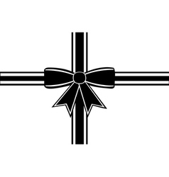 Black ribbon isolated vector image vector image