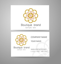 boutique brand logo vector image