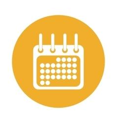 calendar or agenda button thumbnail icon image vector image