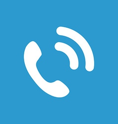 Call icon white on the blue background vector
