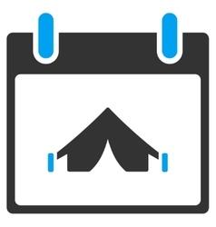 Camping Calendar Day Toolbar Icon vector image vector image