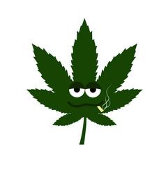 Cannabis leaf smoke vector