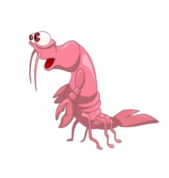 Cartoon character crawfish vector
