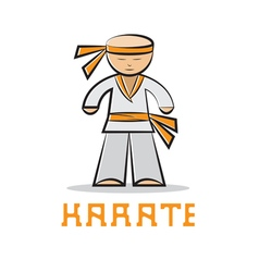 Cartoon karate young man design vector