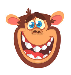 cartoon monkey head vector image