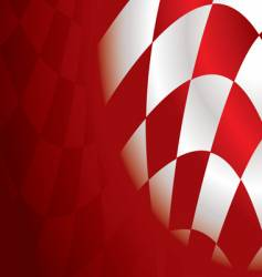 checkered corner red vector image vector image