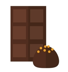 Chocolate truffle vector image