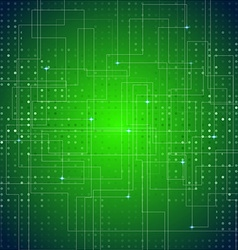 Circuit Board Texture Green Abstract Background vector image