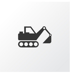 Excavator icon symbol premium quality isolated vector