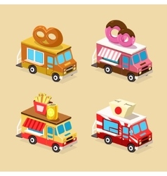 Food Truck Designs Set of Icons vector image vector image