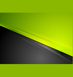 green and black contrast striped abstraction vector image vector image