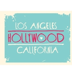 hollywood graphic design art vector image