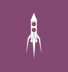 Icon rocket icon vector