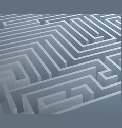 intricacy labyrinth isometric maze background 3d vector image