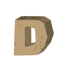 Letter d stone font rock alphabet symbol stones vector
