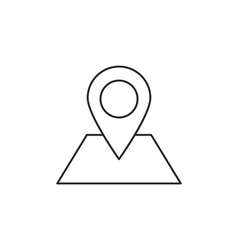 Location icon outline vector