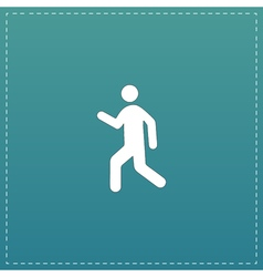 Man walk icon vector
